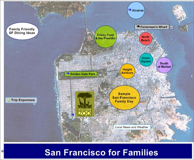 Idea Map 107 San Francisco For Visitors – San Francisco Tourist Attractions Map