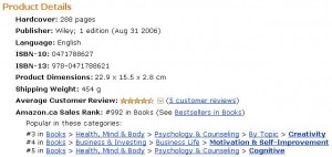Amazon Canada Ranking for Idea Mapping April 7, 2010