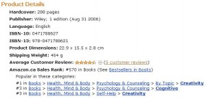 Canadian Amazon Ranking for Idea Mapping Book May 22, 2010