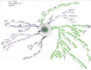 Julia Paljor - Idea Map of Her Goals