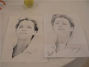 Umiah's Portrait Drawing - Idea Mapping Workshop in Jordan