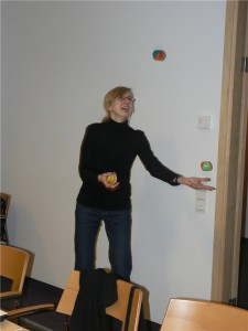 Juggling Practice During Idea Mapping Workshop in Poland 2