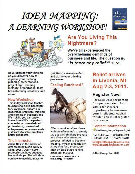 Idea Mapping Workshop Flier - Livonia