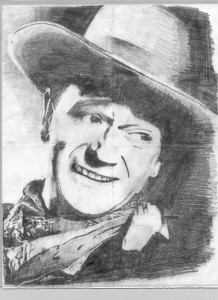 Jamie Nast's Portrait of John Wayne During First Mind Mapping Workshop