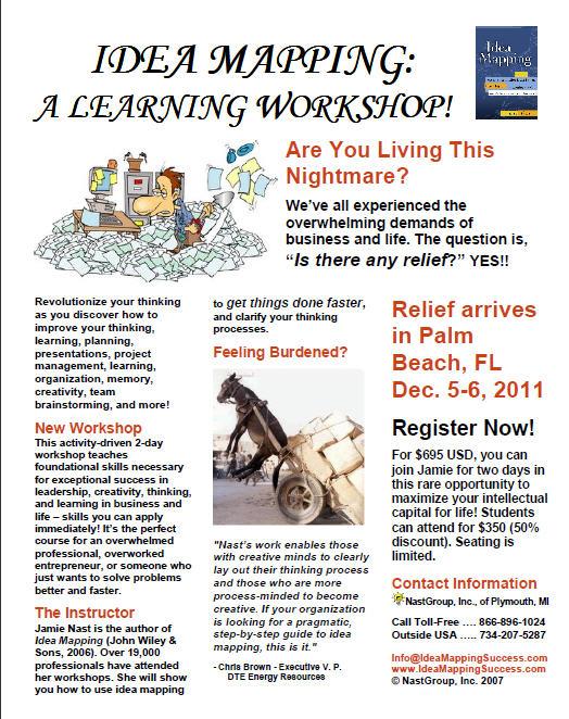 Idea Mapping Workshop Flier - Dec 2011 Palm Beach