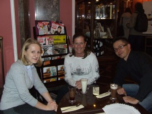 Jamie, Ania & Wojtec at Wedel's