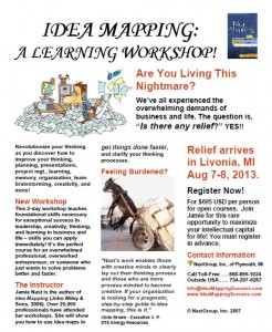 Idea Mapping Workshop Flier - Livonia 2013