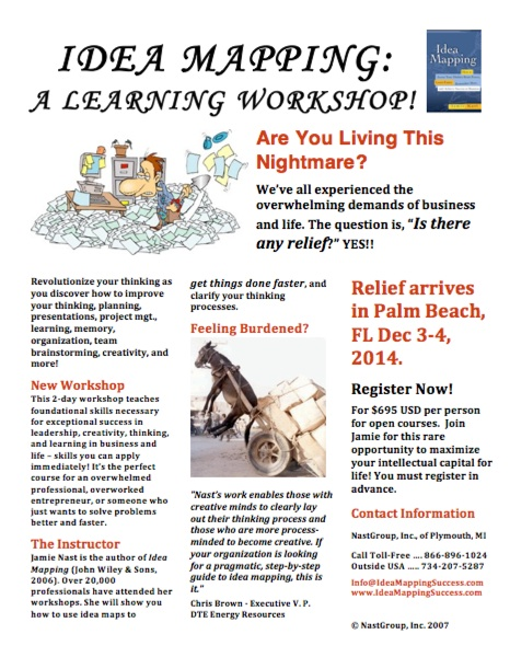 Idea Mapping Workshop Flier - Palm Beach 2014