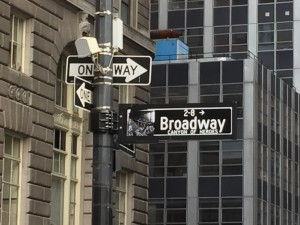 Broadway Street Sign NYC