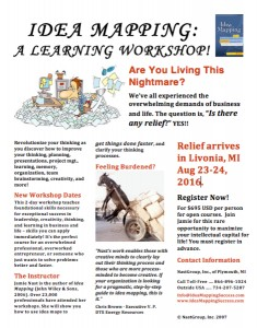 Idea Mapping Workshop Flier - Livonia 2016