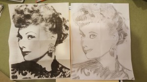 Jeff Bermundo - Lucille Ball Drawing